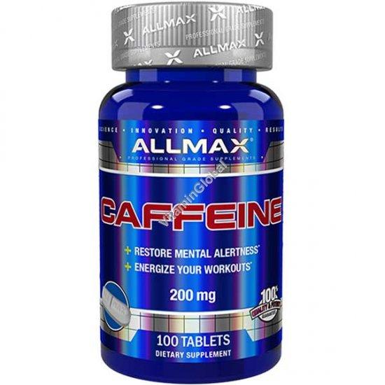 Кофеин 200 мг 100 таблеток - ALLMAX