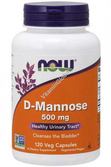 D-Mannose 500 мг 120 вегетарианских капсул - Now Foods