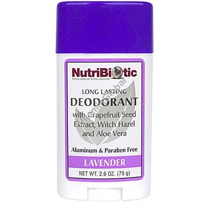 Натуральный дезодорант-стик с экстрактом грейпфрута, запах лаванды 75 гр - NutriBiotic