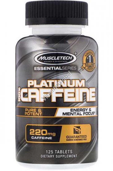 Кофеин 220 мг 125 таблеток - Muscletech