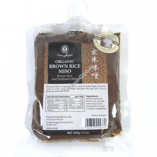 Органическое мисо Генмай 345 гр - Muso From Japan