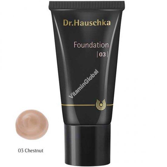 Крем тональный для кожи лица среднего тона 03 (оттенок каштан) 30 мл - Доктор Хаушка