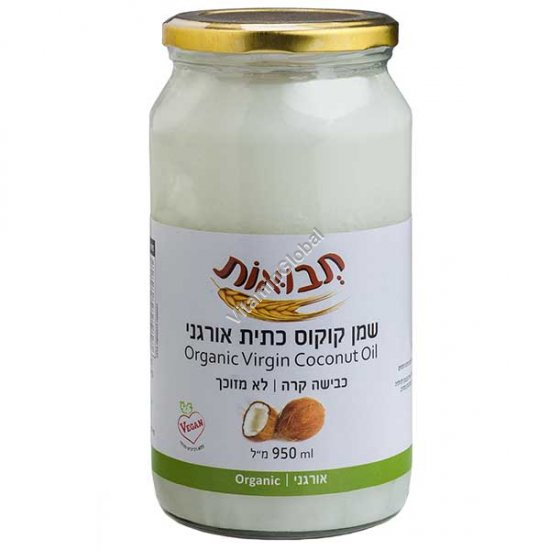 Органическое кокосовое масло холодного отжима 950 мл - Tvuot