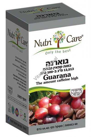 Гуарана экстракт 455 мг 60 растительных капсул - Nutri Care