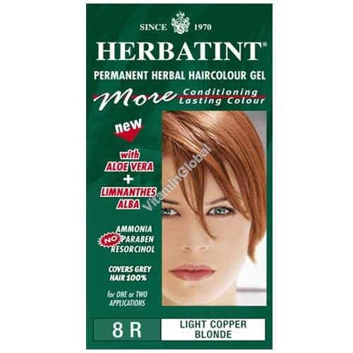 Краска для волос светло-медный блонд 8R - Гербатинт