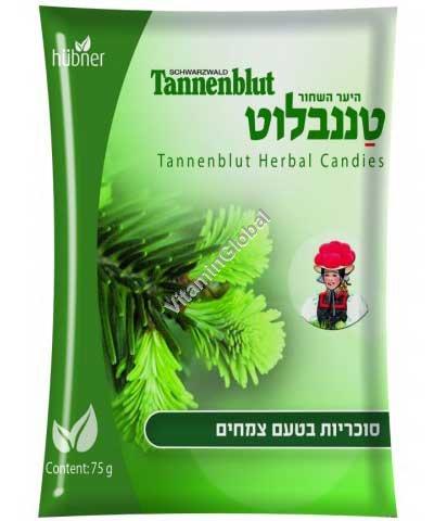 Танненблют - леденцы от болей в горле с эфирными маслами 75 гр - Hubner