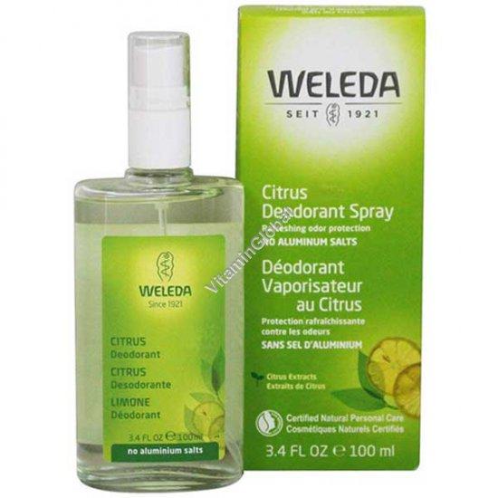 Дезодорант спрей цитрусовый 100 мл - Веледа