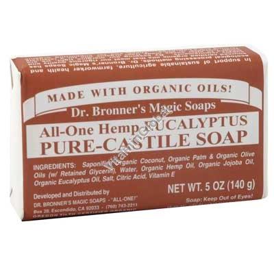 Натуральное эвкалиптовое мыло 140 гр - Dr. Bronner