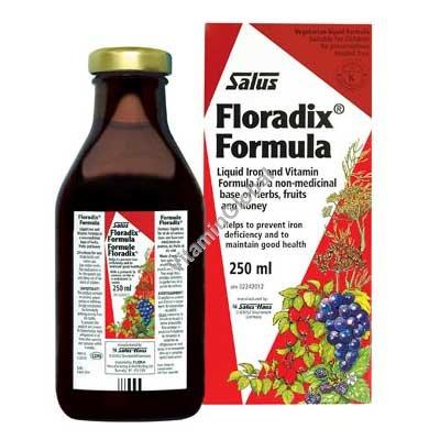 Floradix - железо в сиропе 250 мл - Salus