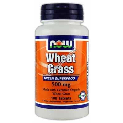 Пророщенная пшеница 500 мг 100 таблеток - NOW Foods