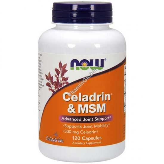 Celadrin с MSM 500 мг 120 капсул - NOW Foods