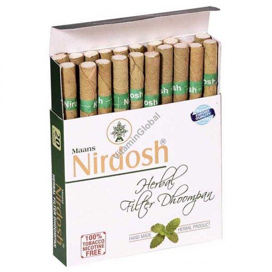 Травяные сигареты без никотина и табака 20 сигарет с фильтром - Нирдош