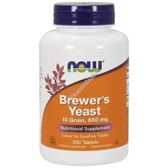 Пивные дрожжи 650 мг. 200 таблеток - Now Foods