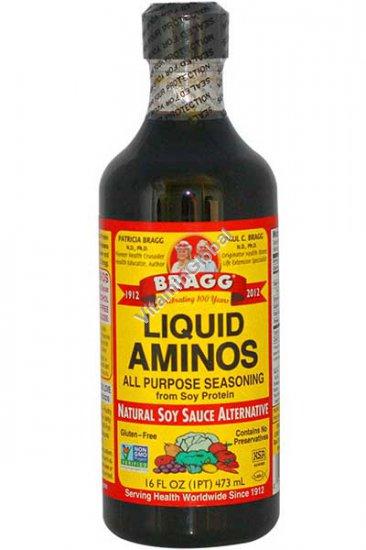Натуральный соевый соус с аминокислотами без глютена и консервантов 473 мл - Брэгг