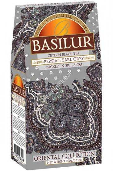 Цейлонский черный чай Персидский Эрл Грей с бергамотом 100 гр - Basilur