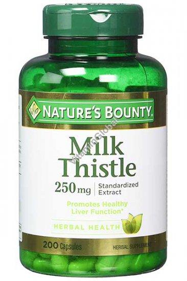 Расторопша пятнистая стандартизированный экстракт 250 мг. 200 капсул - Nature\'s Bounty