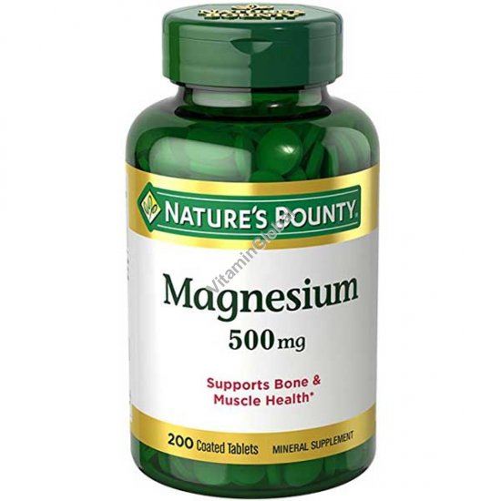 Магний 500 мг 200 таблеток - Nature\'s Bounty