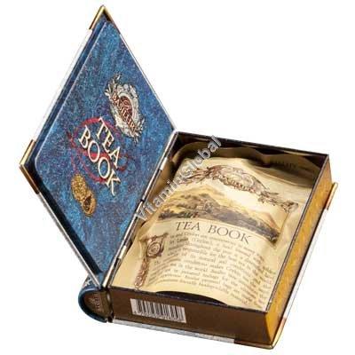 Чайная книга том 1- черный цейлонский чай с цветами василька и бутонами жасмина 100 гр - Базилур