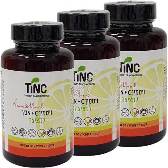 Акция! Витамин С 500 мг + цинк 22 мг 180 (60+60+60) сосательных таблеток - Tinctura Tech