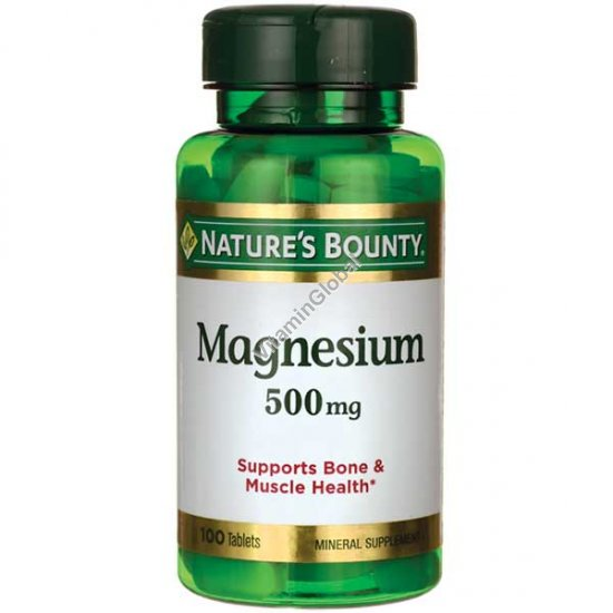 Магний 500 мг 100 таблеток - Nature\'s Bounty