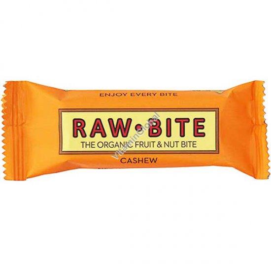 Органический батончик из фиников, изюма и кешью 50 гр - Raw Bite
