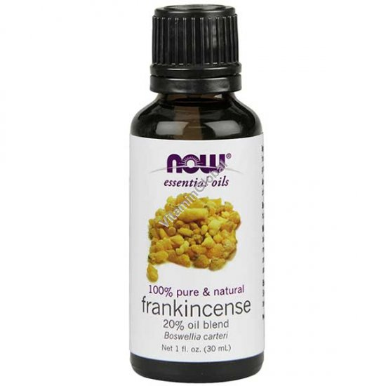 Эфирное масло ладана 20% смесь с маслом виноградных косточек 30 мл - Now Foods