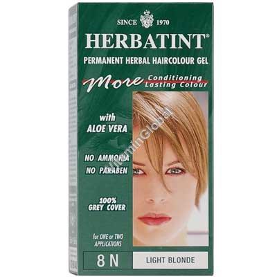 Краска для волос светлый блонд 8N - Гербатинт