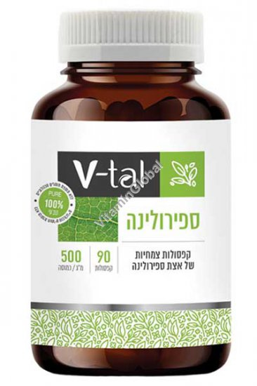 Спирулина 500 мг 90 капсул - V-tal
