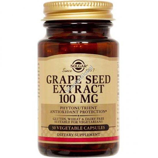 Экстракт виноградных косточек 100 мг 30 капсул - Солгар
