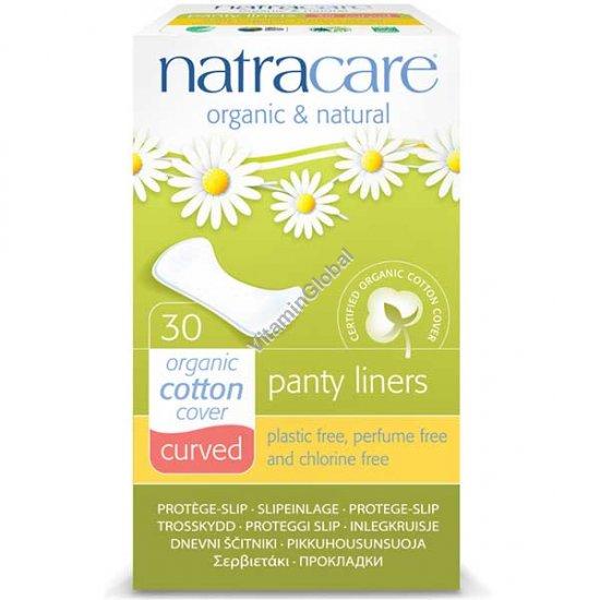Ежедневные натуральные гигиенические закругленные прокладки 30 шт - Natracare