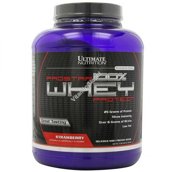 Prostar сывороточный белок вкус клубники 2.39 кг - Ultimate Nutrition