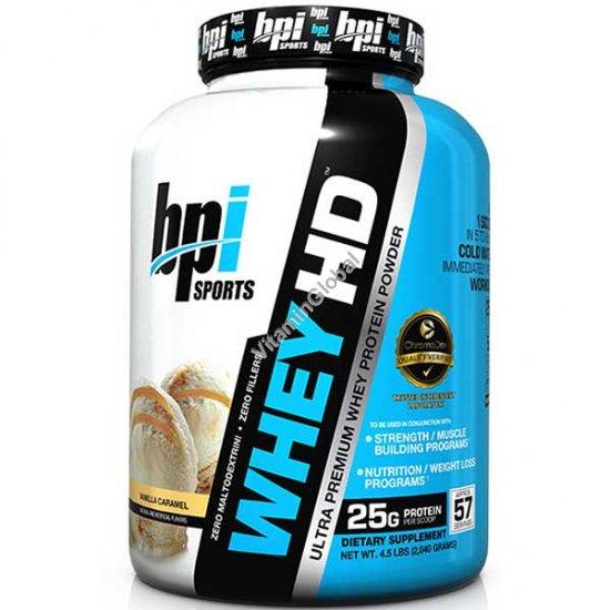 Ультра-премиум сывороточный протеин со вкусом ваниль-карамель 1.85 кг - bpi Sports