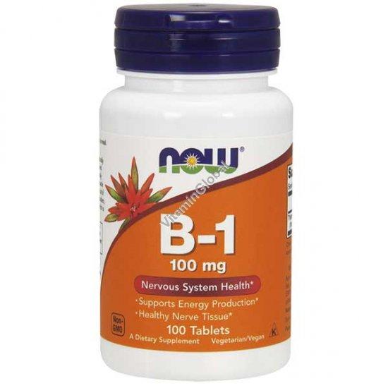 Витамин В-1 100 мг 100 таблеток - NOW Foods