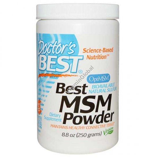 Порошок MSM для уменьшения болей в суставах 250 гр - Doctor\'s Best
