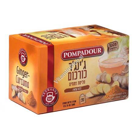 Чай имбирь и куркума 20 фильтр-пакетиков - Pompadour