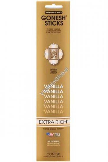 Ароматические палочки благовония ваниль 20 палочек - Gonesh Sticks