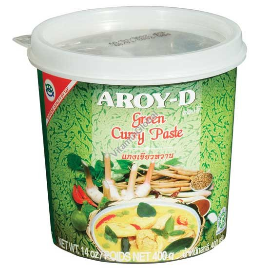 Зеленая карри паста 400 гр - Aroy-D