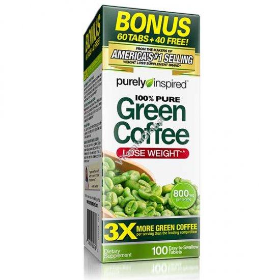 Экстракт зеленого кофе 100 таблеток - Purely Inspired