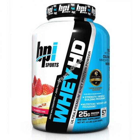 Ультра-премиум сывороточный протеин с клубничным вкусом 1.85 кг - bpi Sports