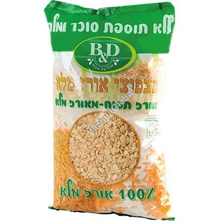 Хлопья без глютена из цельного риса без соли и сахара 450 гр - B&D