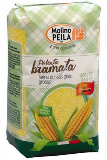 Кукурузная мука грубого помола без глютена (Полента) 1 кг - Molino Peila