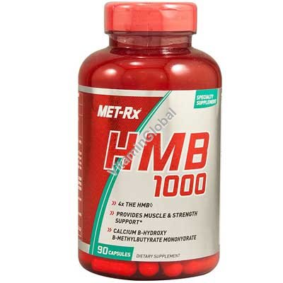 HMB (Бета-гидрокси Бета-метилбутират) 90 капсул - MET-Rx