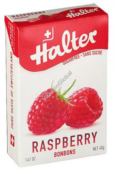 Леденцы без сахара вкус малины 40 гр -Halter