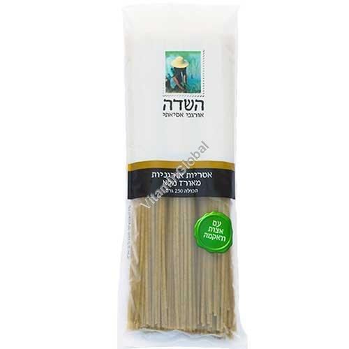 Органические макароны из цельного риса и водорослями Вакаме 250 гр - HaSade