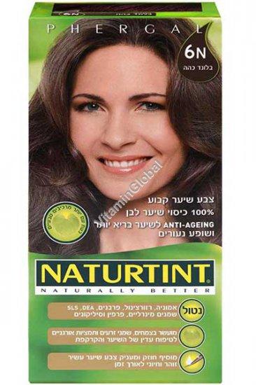 Стойкая краска для волос, цвет темно-русый цвет 6N - Натуртинт