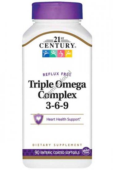 Омега комплекс 3-6-9 90 мягких капсул - 21st Century