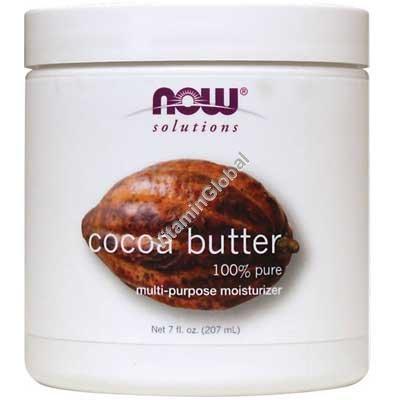 Натуральное какао-масло 207 мл - Now Foods