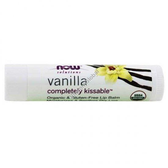 Органическая гигиеническая губная помада ванильная 4.25 гр - Now Foods