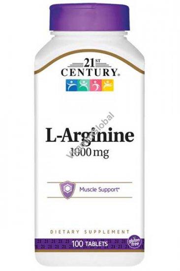 Аминокислота Л-аргинин 1000 мг 100 таблеток - 21st Century