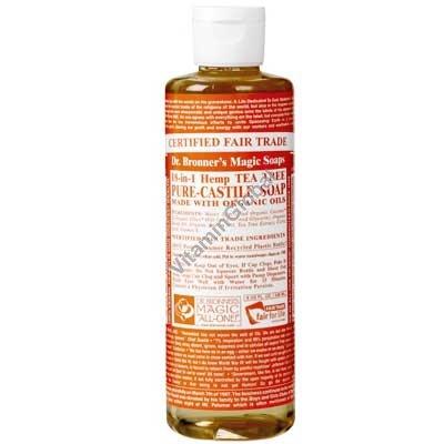 Натуральное жидкое мыло с маслом чайного дерева 472 мл - Dr. Bronner
